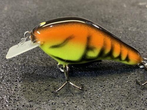 Spring Craw Color Custom Balsa Squarebill Ernie Custom Crankbaits R.J.A
