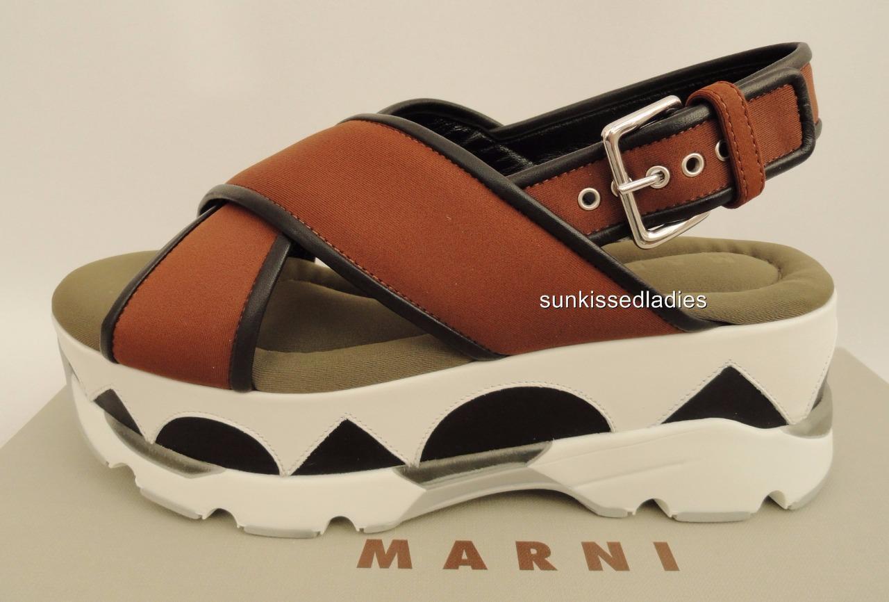 Marni Sandalias De Plataforma Zapatos sin Taco UK6 EU39 US9 Nuevo