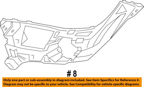 BMW OEM 15-16 X6 Front Bumper Grille Grill-Support Bracket Left 51117319801