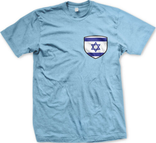 Israel Flag Shield Jewish Star Of David Heart FREE SHIPPING New Mens T-shirt