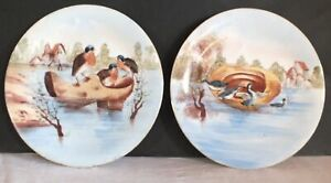 2-Plates-Decorative-Limoges