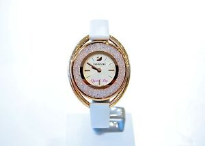 Image is loading Swarovski-Authentic-Crystalline-Oval-White-Tone-Watch -5230946- 2460bf8180
