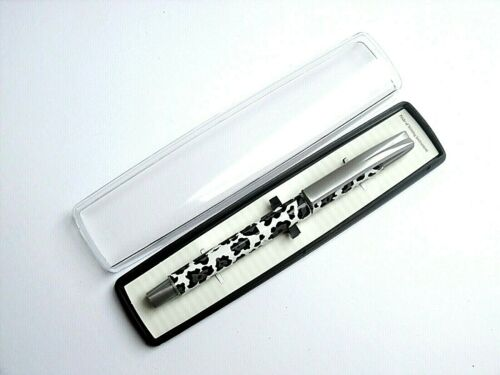 LADIES REFILLABLE BALLPOINT PEN GIFT ANIMAL LEOPARD STYLE PRINT-GIFT BOXED-NEW