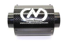 UNIVERSALE in Fibra di Carbonio Airbox Filtro aria aspirata Performance W 132mm x h155mm