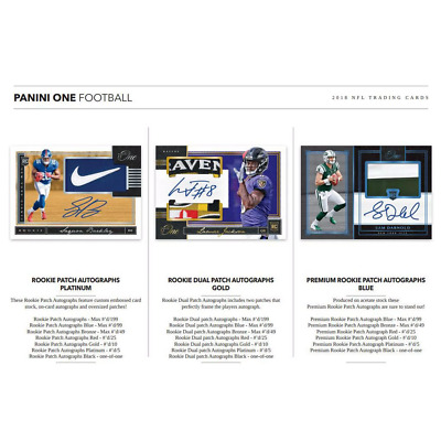 2018 PANINI ONE FOOTBALL HOBBY PICK YOUR PLAYER (PYP) 1 BOX BREAK #2