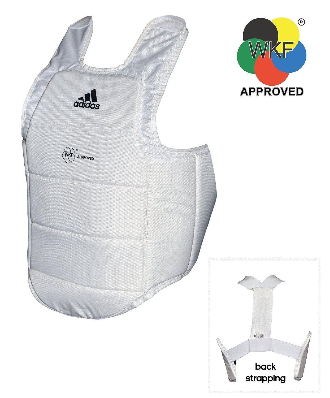 Adidas Karate Corpo Prossoezione Wkf Corpetto Torace Panno Adulti Bambini
