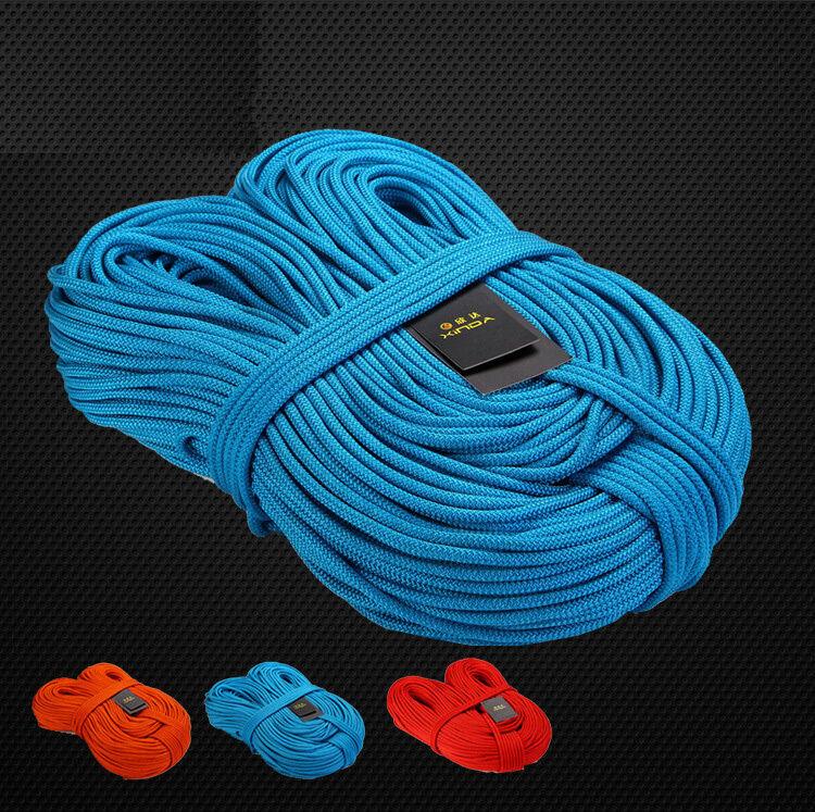 7KN 6mm Core Nylon Cuerda de escalada deportes viajes Estática Cuerda Sling Seguro De Rescate Nuevo