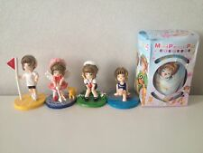 Cardcaptor Sakura Cardcaptors Anime Set 4 Mini Figures Pencil Pot Bag Purse Case