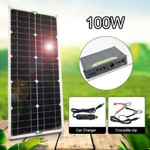 100w 100 vatios 12 voltios solar set solar anexo Anexo isla jardín camping módulo solar