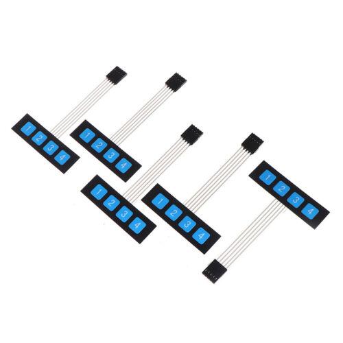 5PCS 1x4 Matrix Array 4 Key Membrane Switch Keypad Keyboard 4 K FD