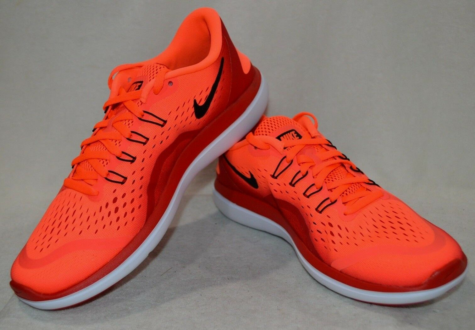 Nike uomini flex 2017 rn iper - arancione e nero scarpe da corsa - varie taglie nwb iper - arancione e nero