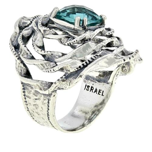 Details about  /LiPaz Floral Sterling Silver Fluorite Ring Size 6 HSN $75