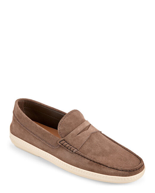 100% AUTH  TODS Women's Brown Taupe Marlin Hyannisport Suede size 36.5