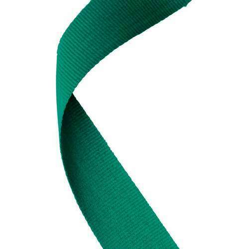 PACK OF 10//25//50//100 x GREEN Medal Ribbons Clip Woven 22mm Wide