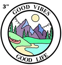 GOOD VIBES GOOD LIFE Embroidered Patch hook Mountain Badge Nature Gift Applique