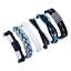 Fashion-Men-Women-Handmade-Genuine-Leather-Bracelet-Braided-Bangle-Wristband-Set miniatura 40