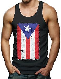Puerto Rico Flag Distressed Country Pride Men S Tank Top