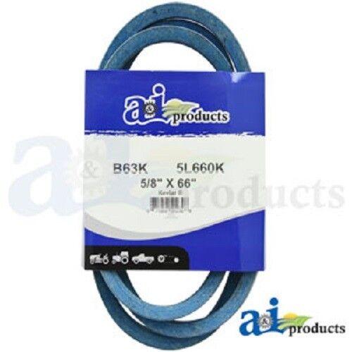 """B63K B-SECTION MADE WITH KEVLAR V BELT 5//8/"""" X 66/"""" BLUE"""