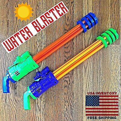 Super Water Gun Blaster for Kids (2 Pack) • Water Blaster Toy 4 Pool Party Fun!