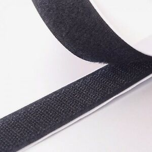 "2"" Black Self Adhesive Hook and Loop Sticky Adhesive Backed Tape 10 ft. Roll USA"