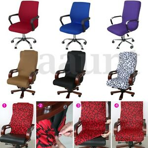 Swivel Computer Chair Cover Stretch Office Armchair Protector Seat ...
