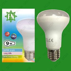 4-x-9W-ES-E27-R63-Lampadina-Riflettore-730lm-6500K-Luce-del-giorno-LED-bianchi