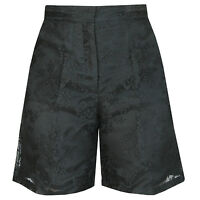 Valentino $1,890 Black Lace High Rise Waist Wide Leg Dress Shorts 38-it/2-us