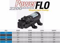 Delavan / Remco 2200-301 Powerflo 12v Dc 1.0 Gpm 40 Psi Diaphragm Demand Pump