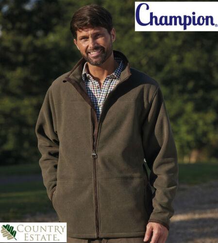 CHAMPION MEN/'S Country Estate Berwick Stile Giacca in pile con finiture in finta pelle scamosciata