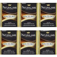 6 Pack - Trojan Naturalamb Natural Skin Lubricated Condoms 3 Each on sale