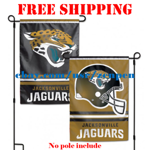 5b3c565a Image is loading Jacksonville-Jaguars-Logo-Garden-Outdoor-Flag-Double-Sides-