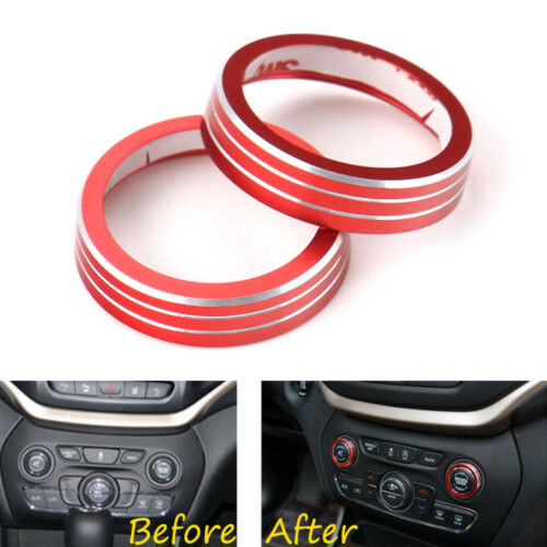 Inner Dash Console Volume CD Knob Ring Trim Cover For 2014-2016 Grand Cherokee