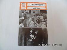 CARTE FICHE CINEMA 1933 J'ETAIS UNE ESPIONNE Madeleine Carroll Herbert Marshall