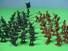 55 Piece Battle for the Alamo 60mm Texan and Mexican Soldier Figures Toy Set