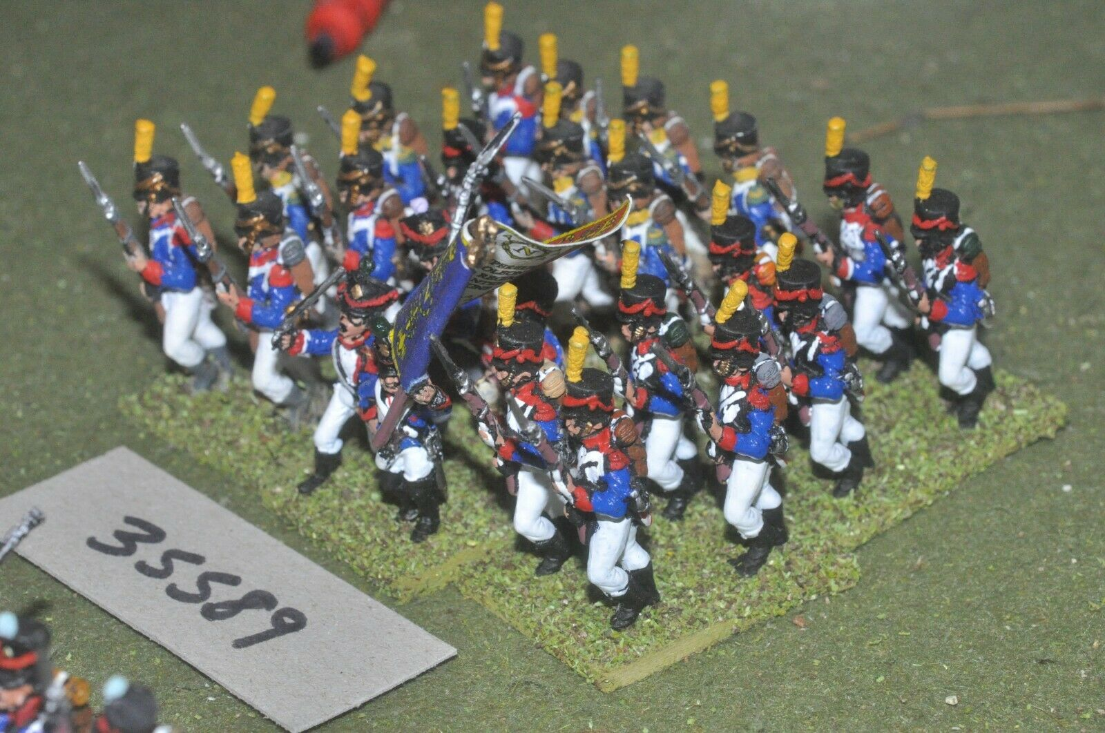 25mm napoleonic   french - regiment 24 figures - inf (35589)