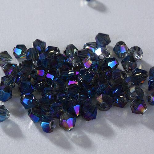 HOT New 100//1000pcs 4mm Glass Crystal #5301 Bicone beads U Pick colors