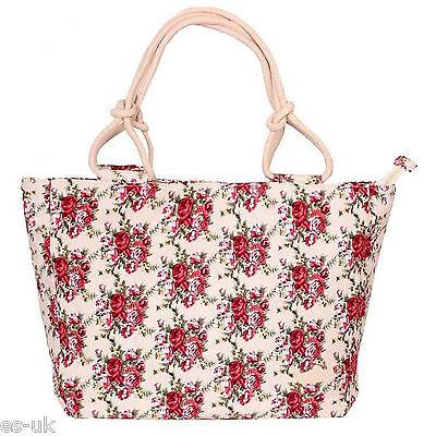 Damen Leinen Strandtasche / Einkaufstasche / Handtasche -- Neu mit Etikett