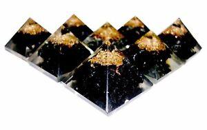 5-X-Tourmaline-Crystal-Mini-Orgonite-Pyramid-Natural-Gemstone-hand-Crafted