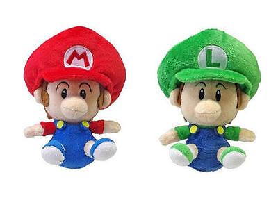 NEW AUTHENTIC Super Mario Bros - Baby Mario & Baby Luigi Stuffed Plush Doll toy