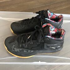item 6 Nike Max Lebron XI 11 Low Black Gum Acid Lion 642849 078 Size 8.5  (B) -Nike Max Lebron XI 11 Low Black Gum Acid Lion 642849 078 Size 8.5 (B) 435b9a54f6b