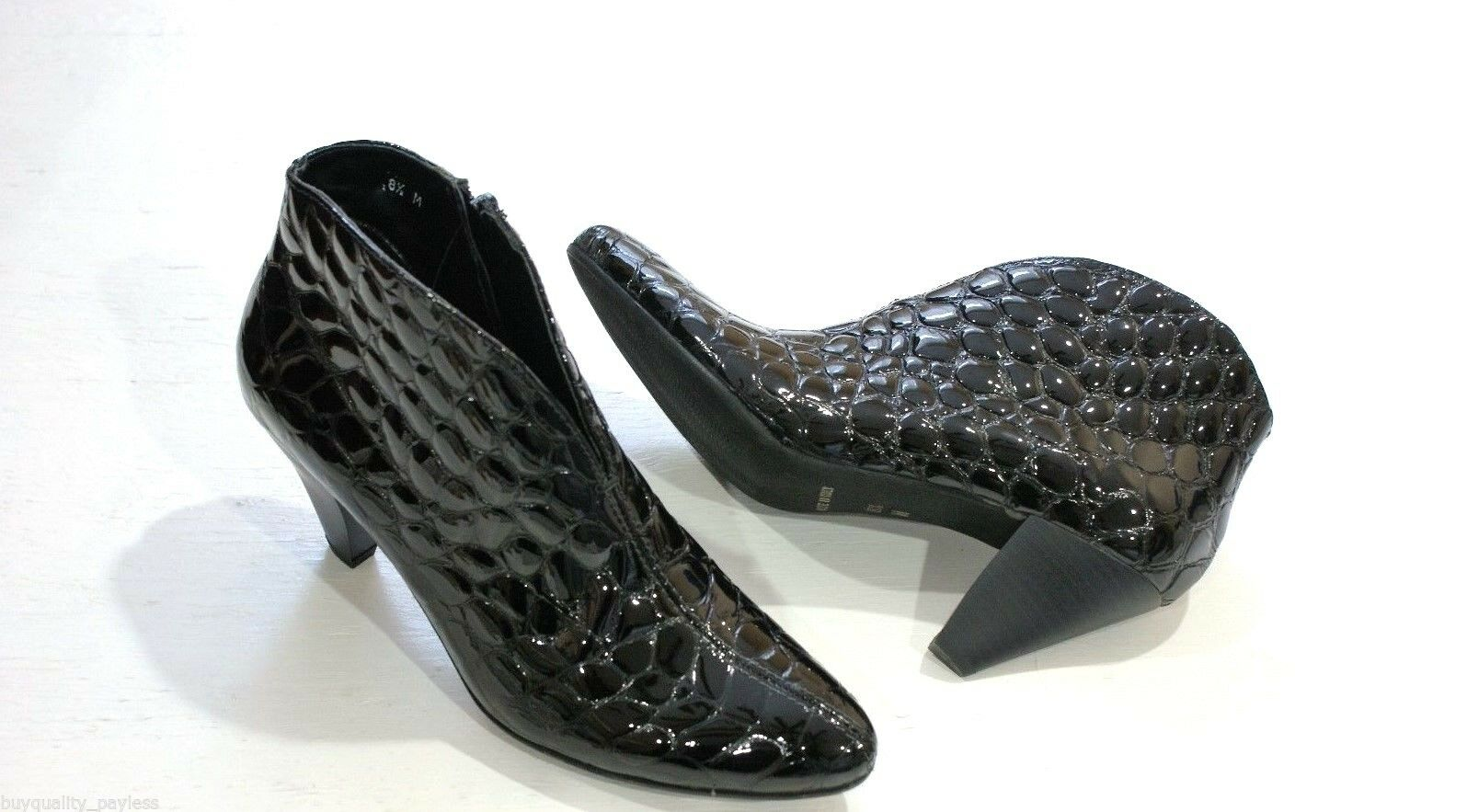 $325 SESTO MEUCCI ABRIL CROCO Ankle Boots Shoes Womens 8 NEW IN BOX