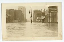 RPPC Flooded Street View LOUISVILLE KY Vintage 1937 Kentucky Real Photo Postcard