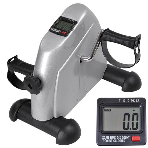 Mini Pedal Stepper Bike Indoor Home Cycling Fitness Exerciser LCD Display Silver