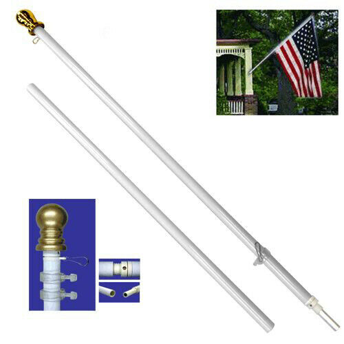 6ft Flag Pole Tangle Free Flag Pole 6ft Spinning Wall Hanging Residential Pole
