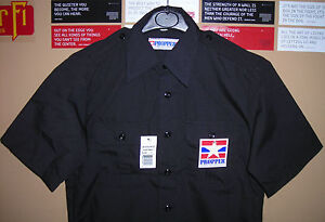 GENUINE-US-PROPPER-TACTICAL-POLICE-SHIRT-2-POCKETS-EPAULETS-RIP-STOP-BLACK-NEW