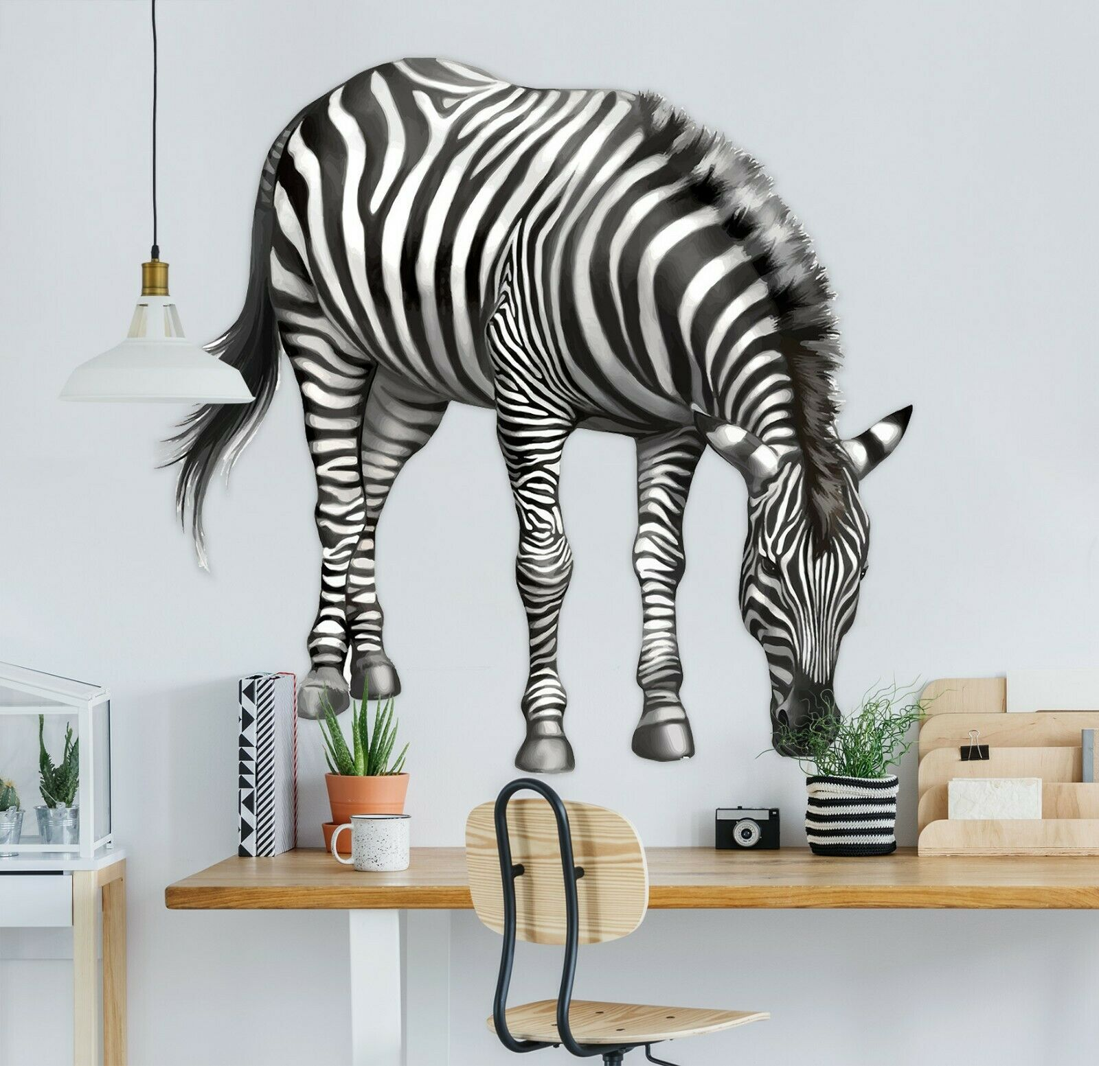 3D Cute Zebra B78 Animal Wallpaper Mural Poster Wall Stickers Decal Wendy