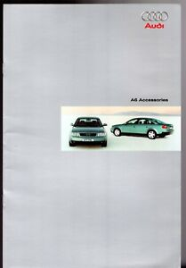 Audi A6 Saloon & Avant Accessories 2000-01 UK Market Sales Brochure