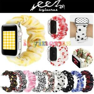 Scrunchie-Fashion-Loop-Band-Strap-For-Apple-Watch-iWatch-Series-5-4-3-2-1-HOT
