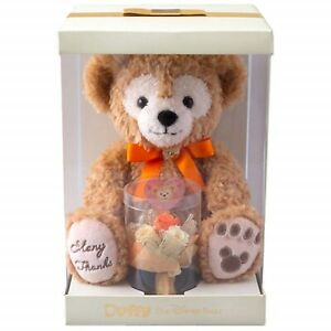 Tokyo-Disney-Sea-2019-Duffy-Plush-Toy-with-Preserved-Flower-Gift-Orange-NEW