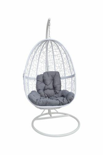 Kissen Hanging Chair Terrasse Garten Wintergarten NEU Hängesessel weiß inkl